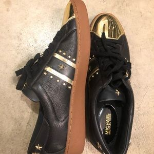 New Michael Kors Frankie Studded Leather Sneaker